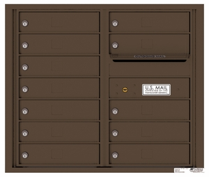 Rear Loading Double Column Commercial Mailbox with 12 Tenant Doors