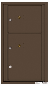 Rear Loading Fully Recessed Single Column Commercial Mailbox with 2 Parcel Lockers