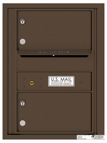 Rear Loading Single Column Commercial Mailbox with 2 Tenant Compartments