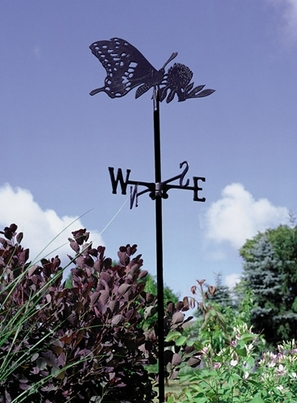 Whitehall Garden Directions BUTTERFLY Weathervane in Metallic Finishes
