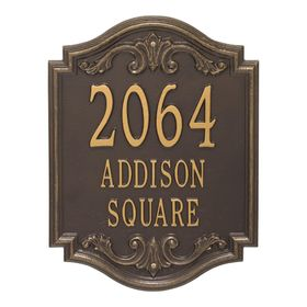 Glen Haven Extra Grande Personalized 3-Line Signature Wall Address Plaque (Choose Color)