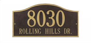 Whitehall Standard Size Rolling Hills Wall Plaque - (1 or 2 lines)