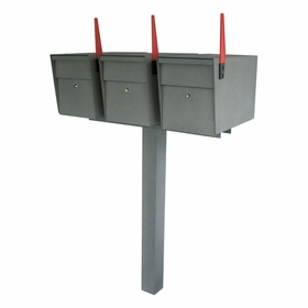 Mail Boss Ultimate High Security Locking Triple Mailbox & Post Package