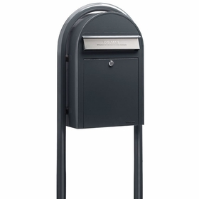 USPS Bobi Classic Grey Front Access Mailbox (Post Included)