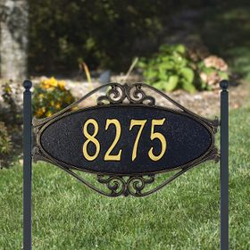 Hackley Fretwork - Standard Lawn Address Sign - One Line