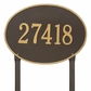 Hawthorne Oval - Estate Lawn Address Sign - One Line