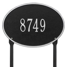 Hawthorne Oval - Standard Lawn Address Sign - One Line