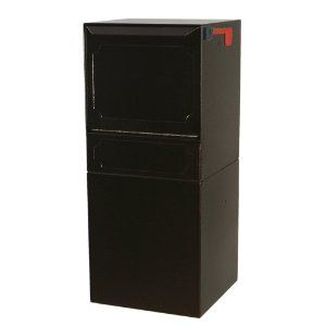High Security Package Delivery Locking Parcel Mailbox with Post Option - Copper Vein