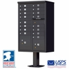 CBU - 16 Tenant Boxes Cluster Mailbox In Black