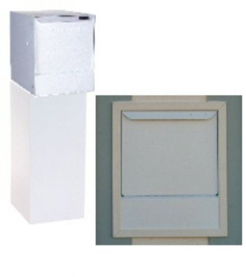 High Security Wall Mount Locking Mailbox (top only) - White