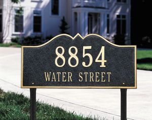 Hillsboro - Two Line - Estate Lawn Address Sign