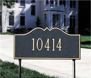Hillsboro - One Line - Standard Lawn Address Sign