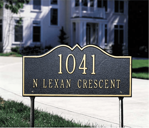 Hillsboro - Two Line - Standard Lawn Address Sign