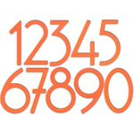 House Numbers and Letters Miami Mango Contemporary 5 Inch