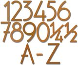 House Numbers and Letters Rust Contemporary 8 Inch