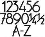 House Numbers and Letters Satin Black Contemporary 5 Inch