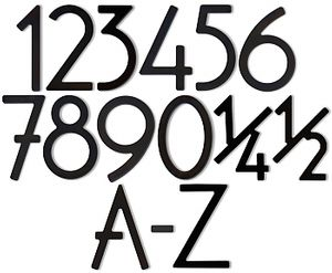 House Numbers and Letters Satin Black Contemporary 8 Inch