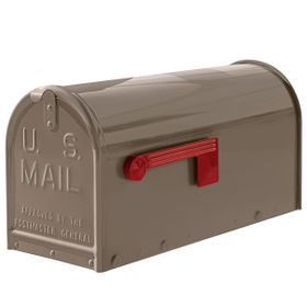 Janzer Mailbox - Residential Post Mount in Gloss Taupe
