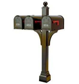 Janzer Multi-Mount Triple Mailbox Posts