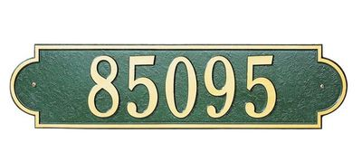 Estate Size Richmond Horizontal Wall or Lawn Plaque - (1 or 2 Lines)