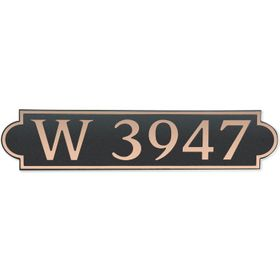Dekorra Products 657 Large Horizontal Address Plaques