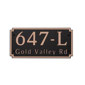 Dekorra Products 647 Large Horizontal Address Plaques