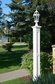 Liberty Lamp Post (with aluminum ground mount) in White
