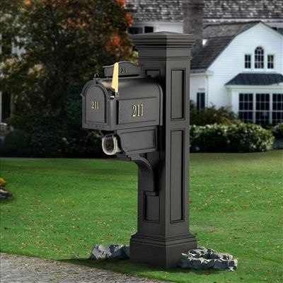Black Liberty Post and Mailbox Package