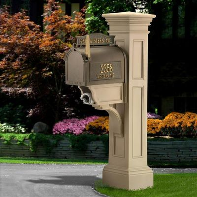 Clay Liberty Post and Mailbox Package