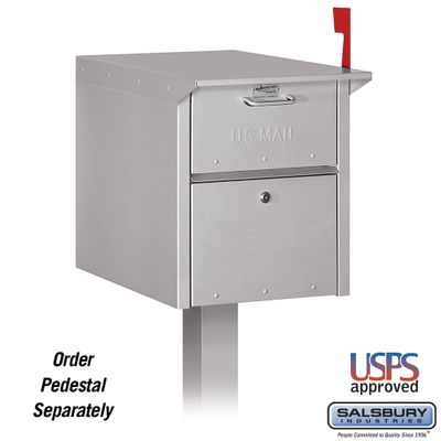 Salsbury 4350SLV Mail Chest Front And Rear Access Silver