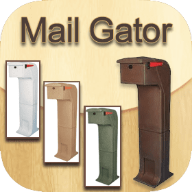 Mail Gator (Mail Safe) Locking Impact Resistant Mailboxes