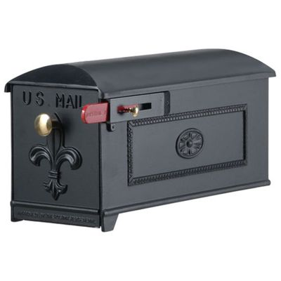 Imperial Mailbox 1 - Fleur De Lis with Framed Side Panel (Mailbox Only)