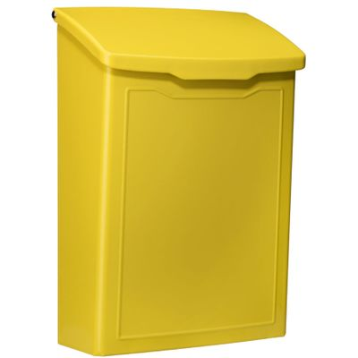 Marina Powder-Coated Steel Wall-Mount Mailbox in Yellow
