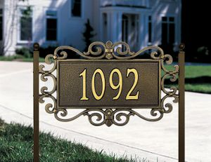 Mears Fretwork - Standard Lawn Address Sign - One Line