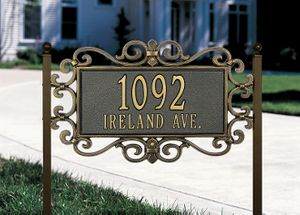 Mears Fretwork - Standard Lawn Address Sign - Two Line