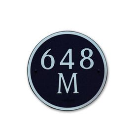 Medium Round Address Plaque Copper Black