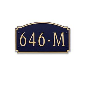 Medium Wall Mount Horizontal Address Plaque Gold Black - 646M