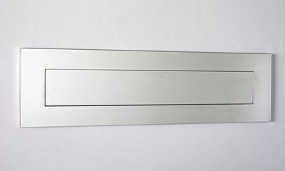 """Mirror Polished Stainless Steel Contemporary Door Mail Slot (small) 11.8"""" x 3"""""""