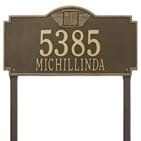 Monogram Estate Lawn Address Sign - One Line