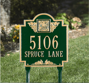 Monogram Standard Lawn Address Sign - Two Line