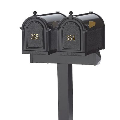 Whitehall Side Mount Double Mailbox Package