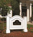 Nantucket Address Sign in White (post only - address plaques sold separately)