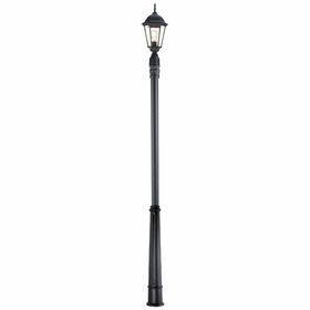 Outdoor Lamp Post with Light Fixture and Decorative Base # 3