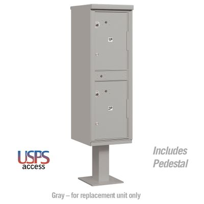 Salsbury 3302GRY-U Parcel Locker 2 Compartments Gray