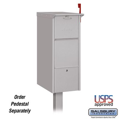 Salsbury 4375SLV Mail Package Drop Front And Rear Access Silver