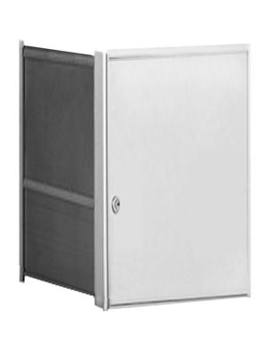 Parcel Locker Door, Front Load, Anodized Aluminum Finish 2H x 2W