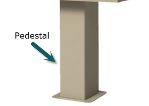 1565 HSCBU Type I and II Replacement Pedestal