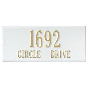 Whitehall Personalized Side Plaque - White