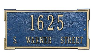 Whitehall Standard Size Roanoke Wall or Lawn Plaque - (1 or 2 lines)
