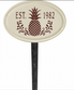 Whitehall Pineapple Ceramic Oval - One Line Petite Lawn Address Sign - Red
